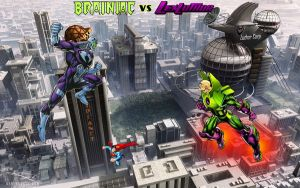 Brainiac vs Lex Luthor over Metropolis! by Superman8193