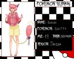 Pokemon Gijinkas - Sachi by lordmegi
