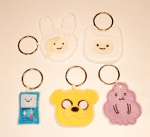 Adventure Time Keychains - The Whole Gang by mihoyonagi