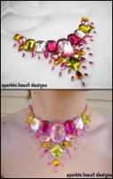 Pink and Yellow Sparkles by Natalie526