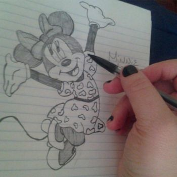 Minnie Mouse by GirlThatDraw