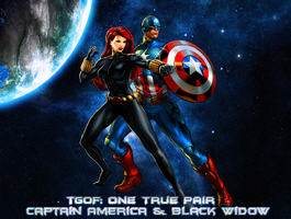 TGoF: OTP Captain America and Black Widow by WOLFBLADE111