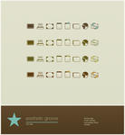 Aesthetic Groove Icon Suite by heylove