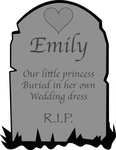 Haunted Mansion - Emily's Tombstone by ScroogeMacDuck
