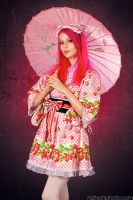 Strawberry Kimono by RavenLeFaye