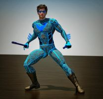 Nightwing tron 2nd skin textures for M4 by hiram67