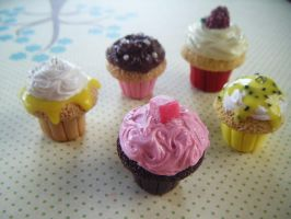 Fine Selection Cupcakes by Cinnamonster