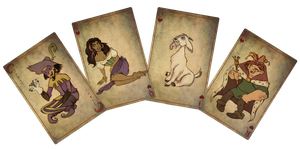 The hunchback of Notre Dame cards by Celiarts