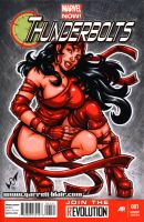 Elektra Thunderbolts sketch cover by gb2k