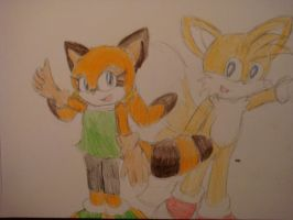 Tails and Marine by Open-your-Heart