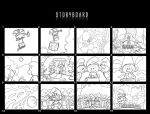 Smurfs storyboard by X-Factorism
