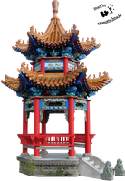 Cut-out stock PNG 35 - Chinese tower by Momotte2stocks