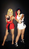 Ryu and Ken - sexy girls ! by dashcosplay