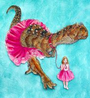 Carnotaurus Ballet by Art-Minion-Andrew0