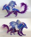blue/purple mini dragon by kimrhodes