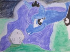 Luna and her pet rock by Akki14