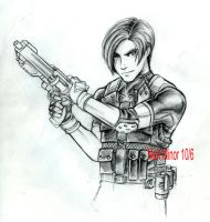 Leon Kennedy sketch RE4 by gondee