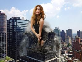 Barbara Palvin outgrows the building by Maidenpool