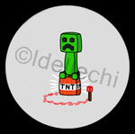 Minecraft Creeper Button 1.5 Inch by Idellechi