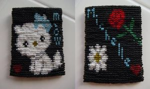 Kitty Bead Pouch by DistantVisions