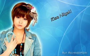 Wall Risa Niigaki blue ver by RainboWxMikA