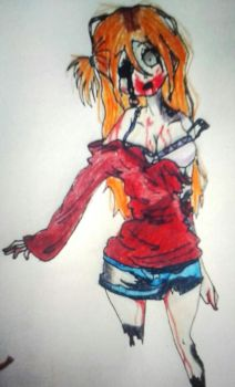 Hungry zombie girl by HimedereJellyfish