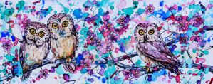 Three Little Owls by Eve-I