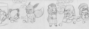 Pokemon BSC having Tea with Chuckles and Knuckers by ADHedgehog
