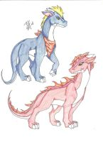 Biker And Starly Teen Dragons by 6liza6
