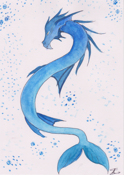 The Dragon of the Ocean by Arklilia