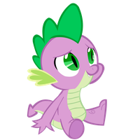 Spike sitting by FranPaz