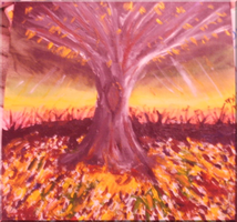 This was my first painting to sell ofline by FoxiArtist