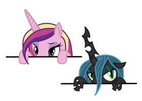 Cadance and Queen Chrysalis by ZkullDefence