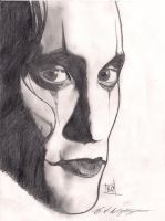 eric draven the crow sketch by roydraven777