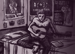 Dean playing guitar by xlostloonax