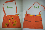 Orange handbag (handmade) by DecorumDreams