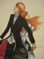 Ichigo and Orihime orig. by kara-lija