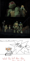 Leo and Raph discovers Mikey's dark secret. by Neko-mirichan