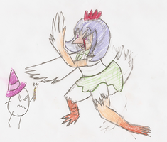 the wrath of egg witch - chicken tf by Inkblot123