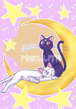 Luna and Artemis by PinkxDust