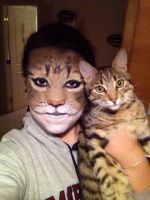 Cat Facepaint by amandabpp