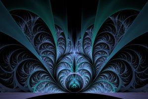 Blue Cathedral fractal by Swingerzetta