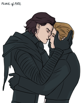 Kylux Kiss Doodle by FlukeOfFate