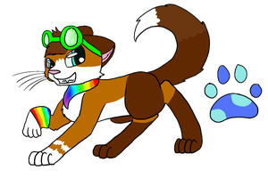 Leapingfeather ref PRIMARY FURSONA by ass-hail