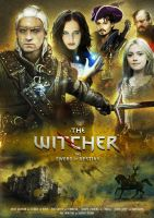 witcher saga movie poster 01 by Thylacinee