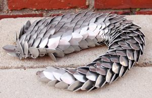 Short Aluminum Dragon Tail by DracoLoricatus