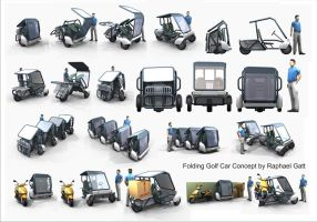 Folding Golf Car concept by Masterclip