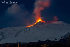 Etna Eruption - 09-02-2012 by OmbraSilente