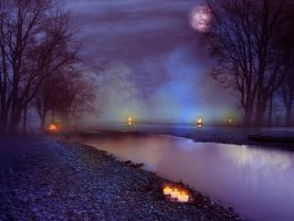 Misty Night premade BG by StarsColdNight