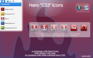 Nero CS3 icons by Promatik